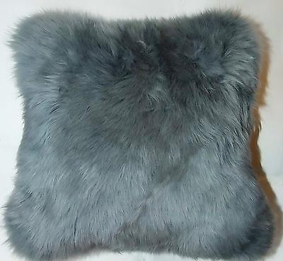 Grey Sheepskin Cushion - Barnscroft.com