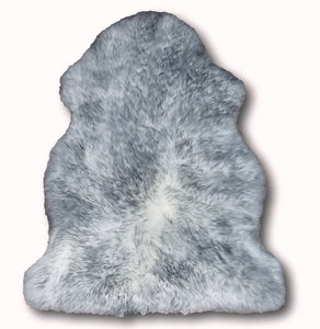 Grey Tipped Sheepskin Single and Double - Barnscroft.com