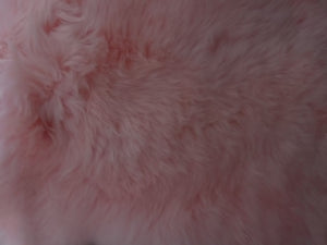Pink Sheepskin Cushion - Barnscroft.com