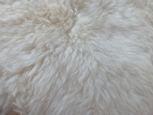 Load image into Gallery viewer, White Sheepskin Cushion 35x35 cm Single and Double Sided - Barnscroft.com