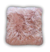 Load image into Gallery viewer, Pink Sheepskin Cushion - Barnscroft.com