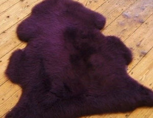 Purple Sheepskin Single - Barnscroft.com