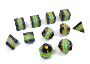 Agender Pride - HeartBeatDice -  RPG Dice Set, CritKit
