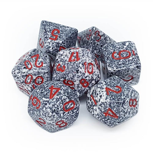 Speckled Granite -  RPG Dice Set, CritKit