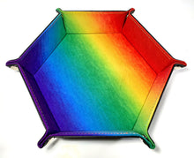 Load image into Gallery viewer, Heartbeat Rainbow Pride Dice Tray