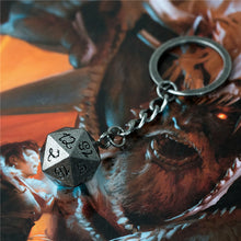 Load image into Gallery viewer, Metal d20 Keyring