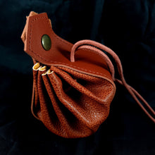 Load image into Gallery viewer, Lindorm Viking Dice Pouch (faux leather / vegan friendly)