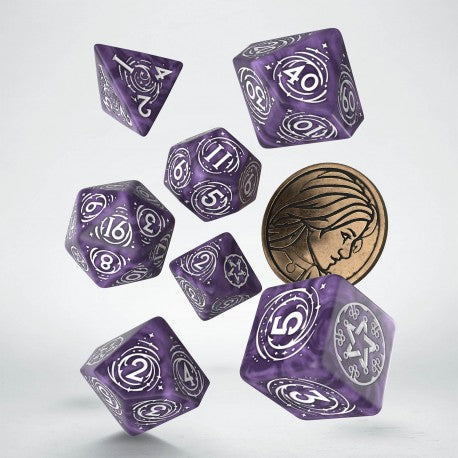 Witcher Dice Set - Yennefer Lilac and Gooseberry