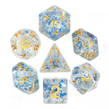 Load image into Gallery viewer, Metal Flakes - Blue -  RPG Dice Set, CritKit