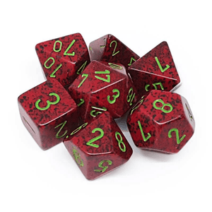Speckled Strawberry -  RPG Dice Set, CritKit