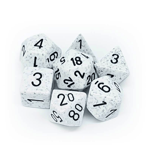 Speckled Arctic Camo -  RPG Dice Set, CritKit