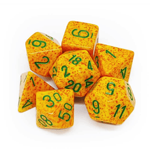Load image into Gallery viewer, Speckled Lotus -  RPG Dice Set, CritKit