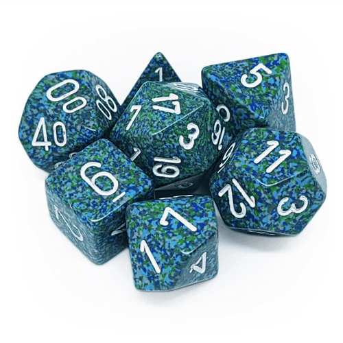 Speckled Sea -  RPG Dice Set, CritKit