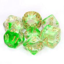 Load image into Gallery viewer, Green Ripple -  RPG Dice Set, CritKit