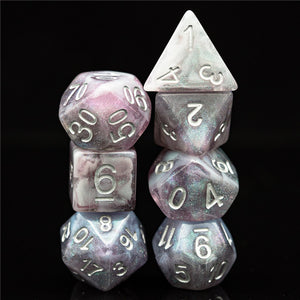 Primordial - Rhodonite -  RPG Dice Set, CritKit