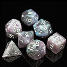 Load image into Gallery viewer, Primordial - Rhodonite -  RPG Dice Set, CritKit