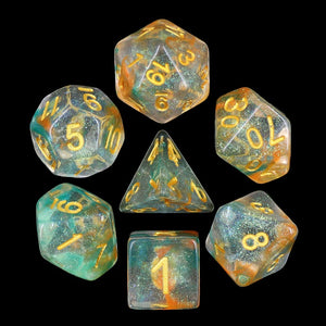 Luminous Koi -  RPG Dice Set, CritKit