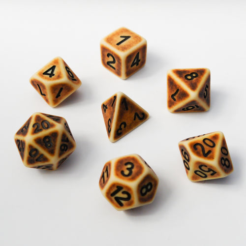 Burnt Bone -  RPG Dice Set, CritKit