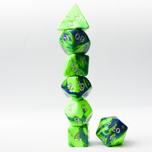 Load image into Gallery viewer, Toxic Flame (Lime) -  RPG Dice Set, CritKit
