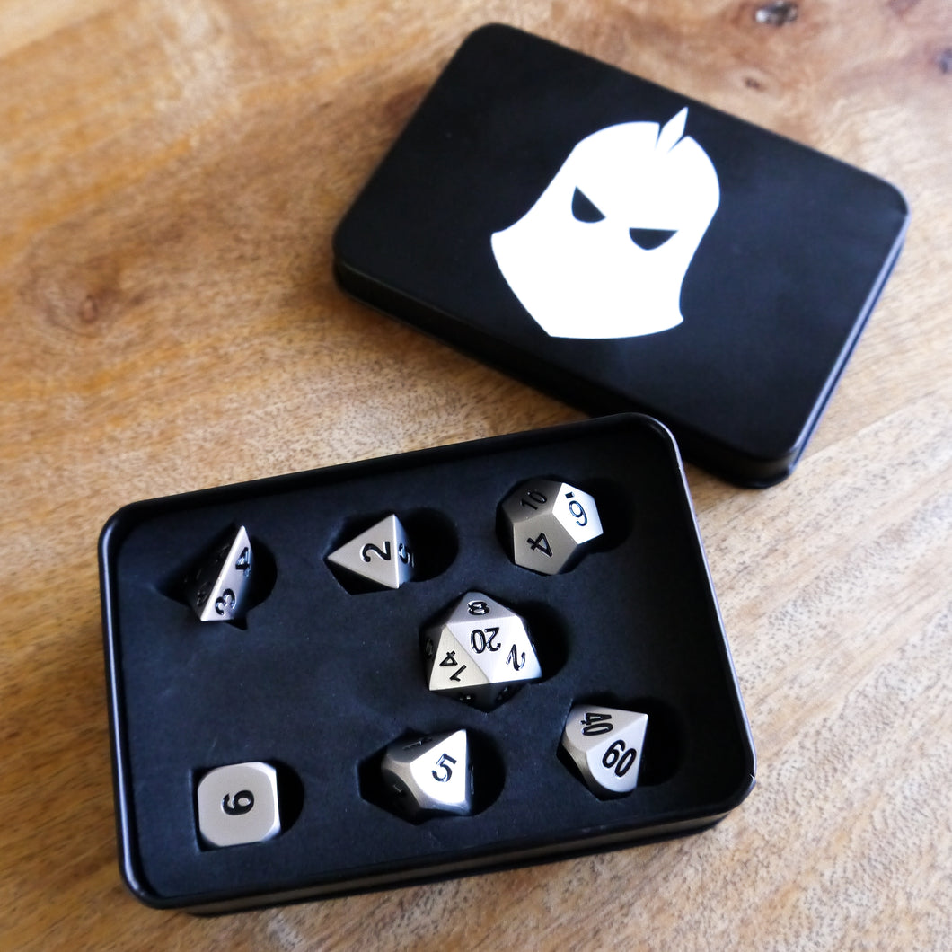 Metal Dice Set -  RPG Dice Set, CritKit