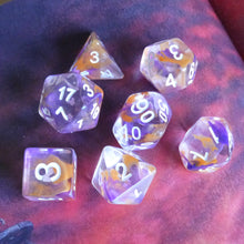 Load image into Gallery viewer, Firespine Dawn -  RPG Dice Set, CritKit