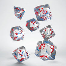 Load image into Gallery viewer, Classic RPG Translucent, Blue & Red - Q-Workshop -  RPG Dice Set, CritKit