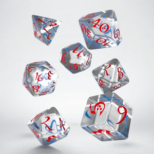 Classic RPG Translucent, Blue & Red - Q-Workshop -  RPG Dice Set, CritKit