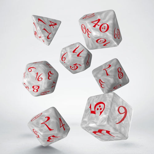 Classic RPG Pearl & Red - Q-Workshop -  RPG Dice Set, CritKit