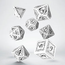 Load image into Gallery viewer, Elvish White & Black - Q-Workshop -  RPG Dice Set, CritKit
