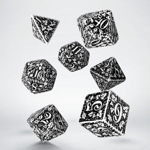 Forest 3D White & Black - Q-Workshop -  RPG Dice Set, CritKit