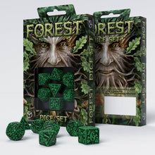 Load image into Gallery viewer, Forest 3D Green & Black - Q-Workshop -  RPG Dice Set, CritKit