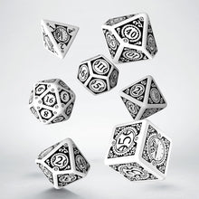 Load image into Gallery viewer, Steampunk Clockwork White & Black - Q-Workshop -  RPG Dice Set, CritKit