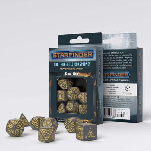 Starfinder Threefold Conspiracy - Q-Workshop -  RPG Dice Set, CritKit