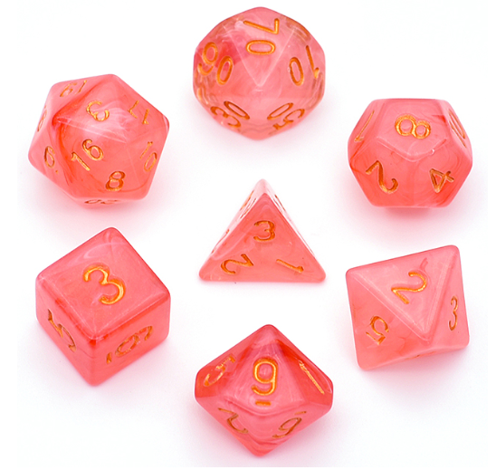 Strawberry Fields -  RPG Dice Set, CritKit