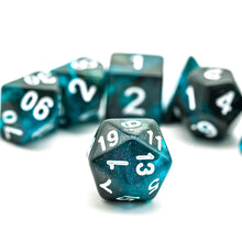 Load image into Gallery viewer, Primordial - Blue & Black -  RPG Dice Set, CritKit