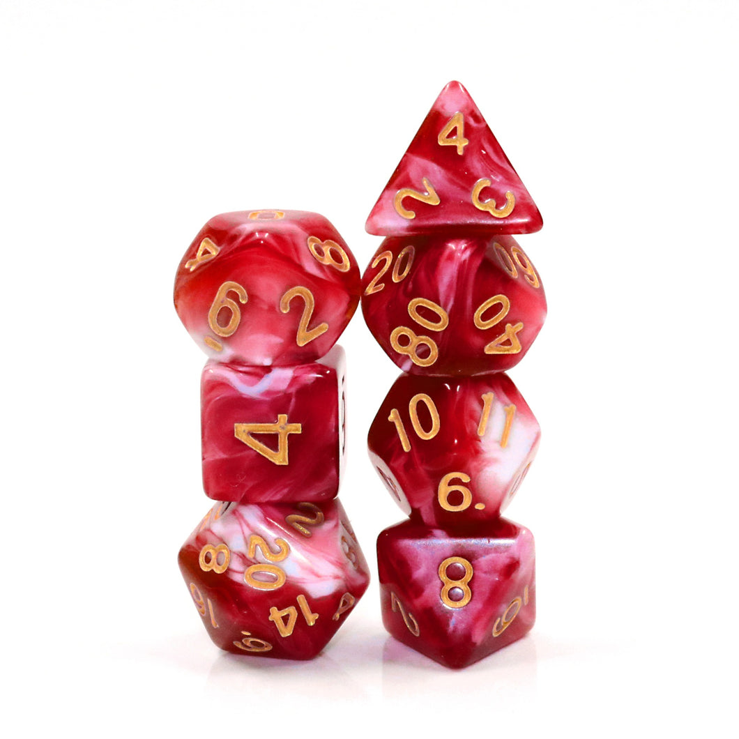 Cherry Cream -  RPG Dice Set, CritKit