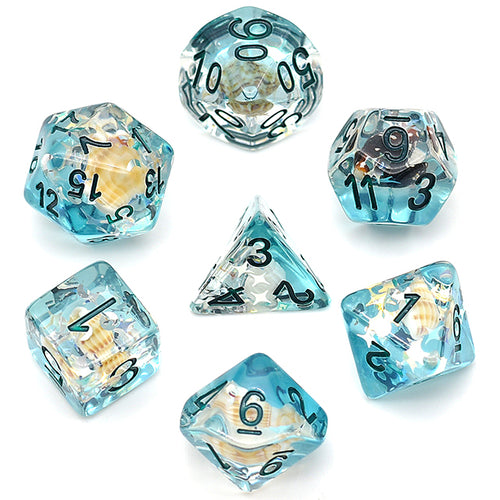 Blue Conch -  RPG Dice Set, CritKit