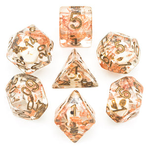 Copper Skull Dice -  RPG Dice Set, CritKit