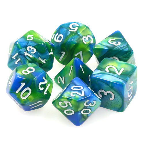 Pale Blue Dot -  RPG Dice Set, CritKit