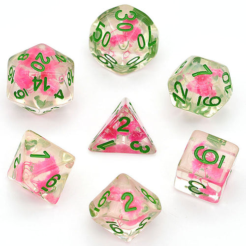 Flowers - Light Pink -  RPG Dice Set, CritKit