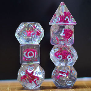 Flowers - Pink -  RPG Dice Set, CritKit