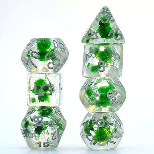 Flowers - Green -  RPG Dice Set, CritKit