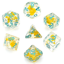Load image into Gallery viewer, Flowers - Yellow -  RPG Dice Set, CritKit