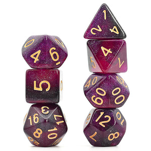 Galaxy - Black / Purple -  RPG Dice Set, CritKit