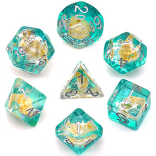 Load image into Gallery viewer, Green Conch -  RPG Dice Set, CritKit