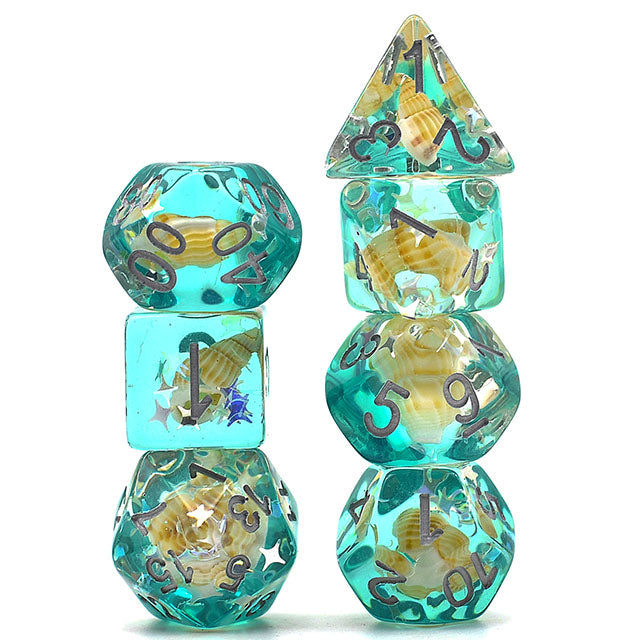 Green Conch -  RPG Dice Set, CritKit