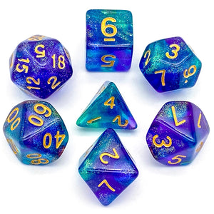 Primordial - Green & Blue -  RPG Dice Set, CritKit