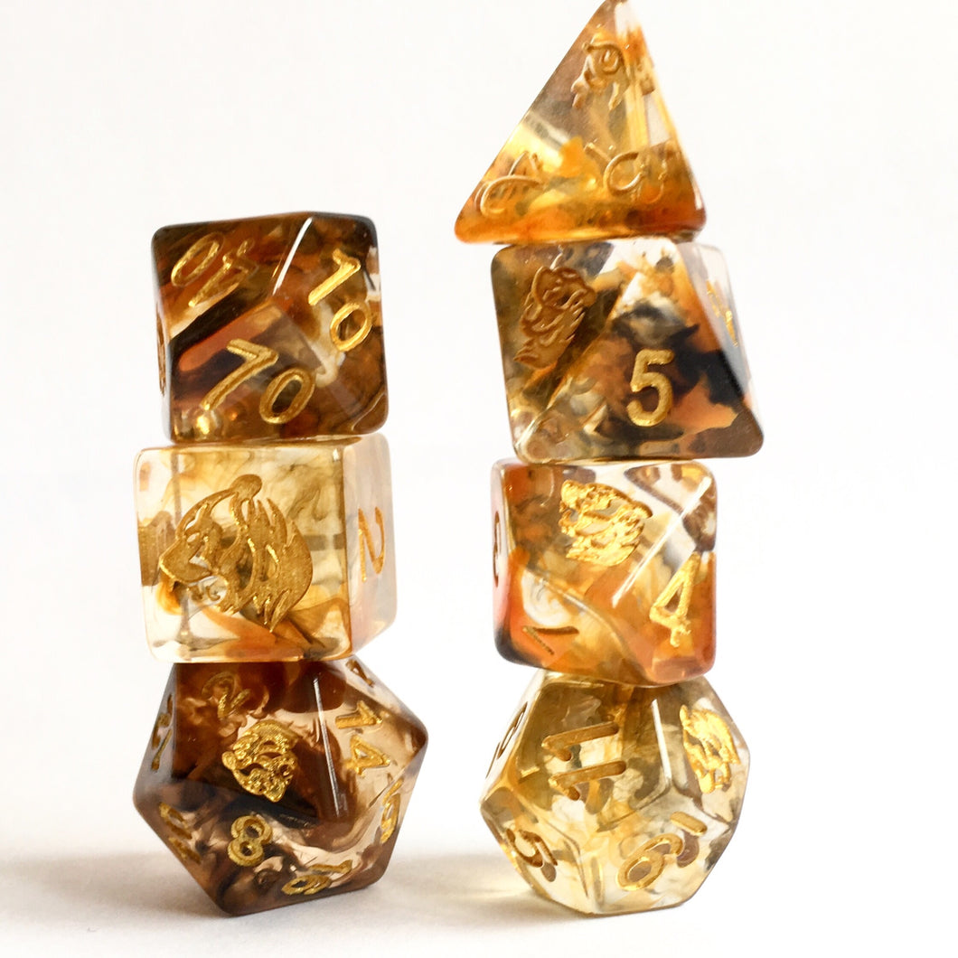 Spirit of The Tiger -  RPG Dice Set, CritKit