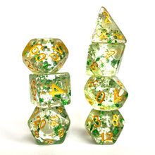 Load image into Gallery viewer, Metal Flakes - Emerald -  RPG Dice Set, CritKit
