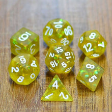 Load image into Gallery viewer, Firefly Sulfur -  RPG Dice Set, CritKit